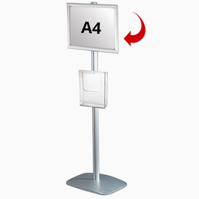 Mini Multistand 3 - Single sided A4 snap frame