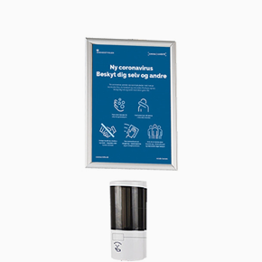 Hand Dispenser 500 ml and Alu Snap Frame A4 - Wall Set